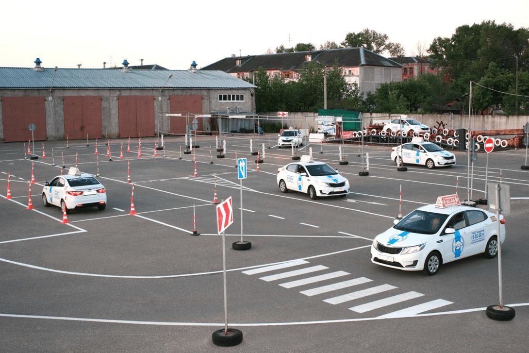 Автошкола Київ майданчик для початкового водіння, автодром