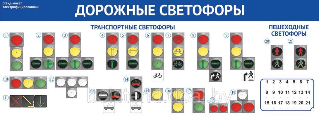 макет світлофорів